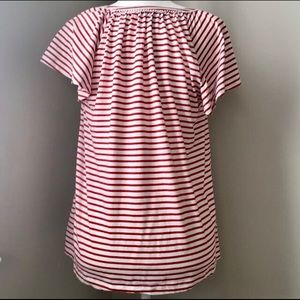 Chaps Tops - Red Stripe Short Sleeve Shirt Size Small